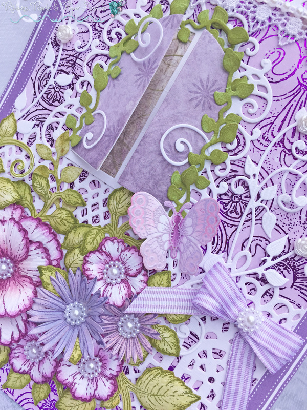 Border die lace rose flourish border cheery lynn border die lace rose - Detailed Gallery Ribbons Pearls Amp Paper Swirls